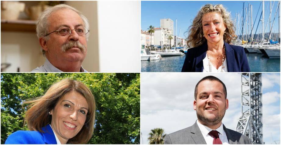 Marc Vuillemot, (Union de la gauche)  Nathalie Bicais (Divers droite), Sandra Torres (Divers droite) et Dorian Munoz (Rassemblement nat) s'affrontent pour le second tour des élections municipales à La Seyne.