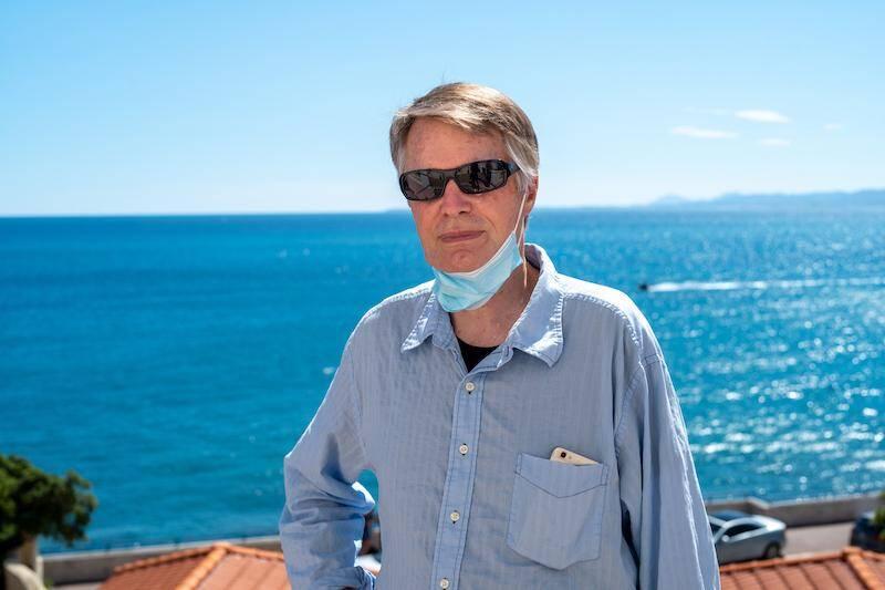 J.M.G. Le Clézio à Nice, où il a vécu ses deux mois de confinement.