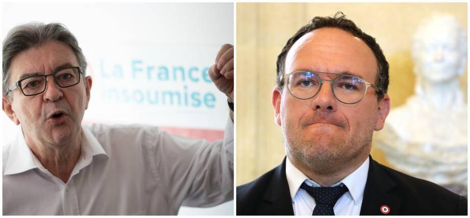 Jean-Luc Mélenchon et Damien Abad.