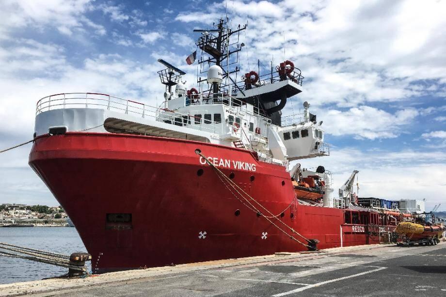 L'Ocean Viking à quai à Marseille le 18 juin 2020.