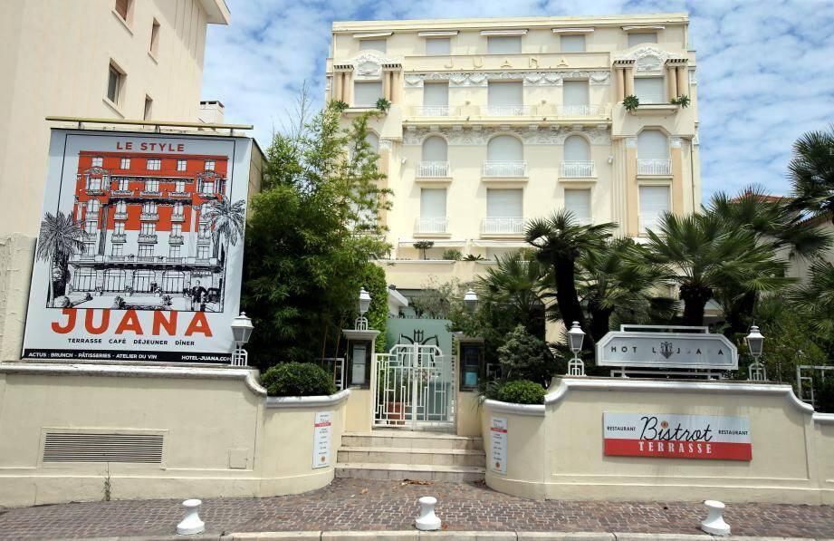 L'hôtel Juana à Juan les pins.