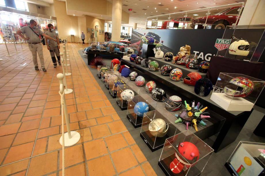 Des casques customisés par des artistes ont élargi le spectre de la Collection.