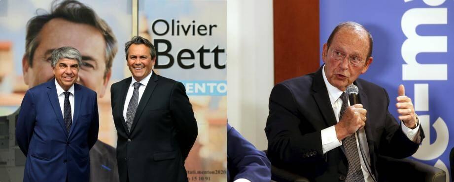Patrice Novelli, Olivier Bettati et Jean-Claude Guibal.