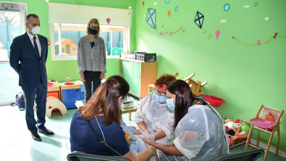 Les enfants accueillis aujourd'hui ont tous été testés au Covid19 ce lundi, pour assurer les conditions maximales de sécurité sanitaire.