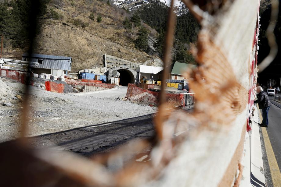 Le chantier du tunnel le 14 février dernier.