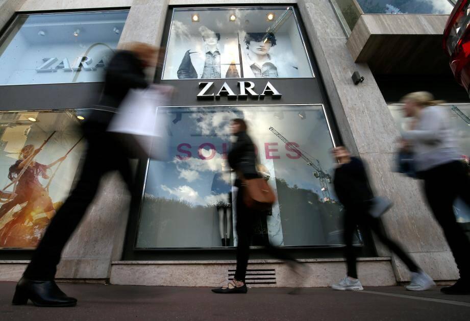 Le magasin Zara à Monaco.