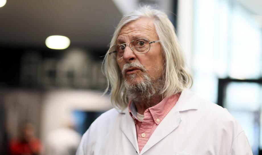Le professeur Didier Raoult à l'Institut Hospitalo-Universitaire Méditerranée Infection à Marseille, le2 mars.