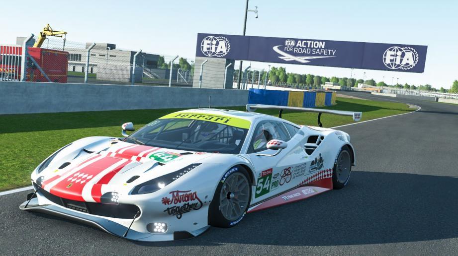 La voiture numéro 54 prendra le départ des 24 heures du Mans en virtuel le 13 juin prochain.