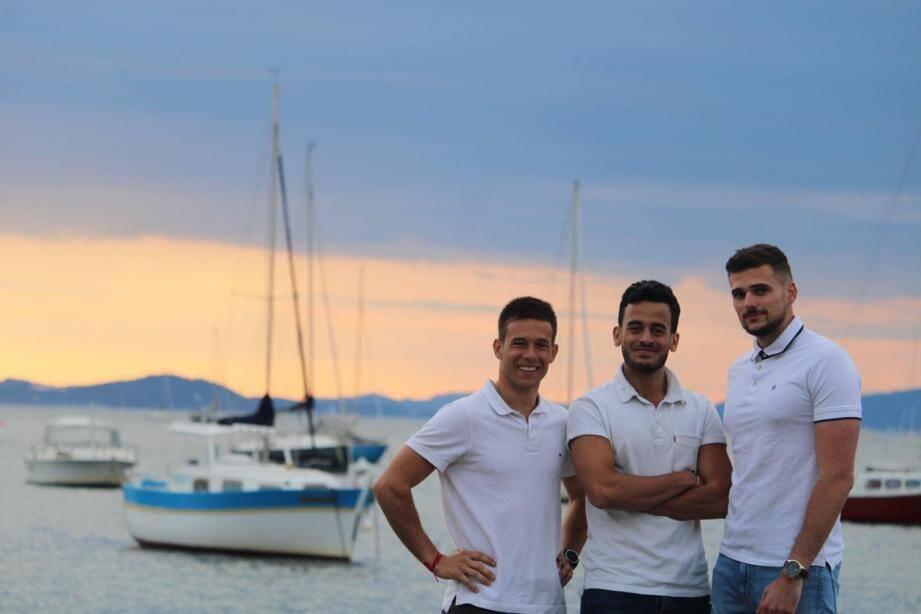 De gauche à droite: César Longeville, Zayd Hassoune et Olivier Martin, cofondateurs de HyLiberty.