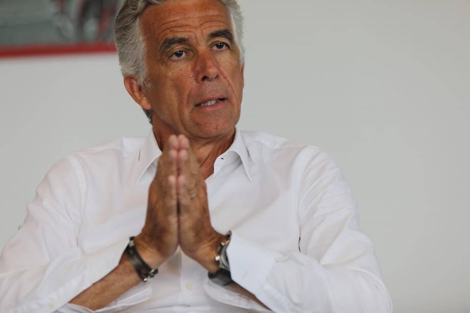 Le président de l'OGC Nice, Jean-Pierre Rivère.