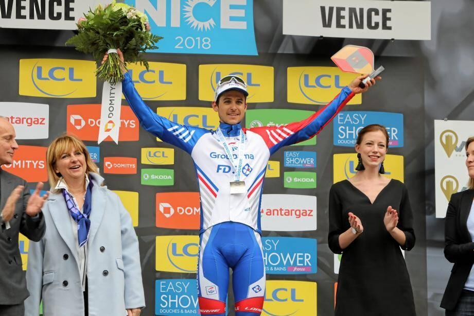 Rudy Molard, vainqueur de l'étape de Paris-Nice à Vence/