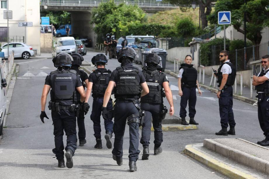 Le quartiers des Liserons à Nice, lors de l'intervention de la police et de la gendarmerie le 11 juin.