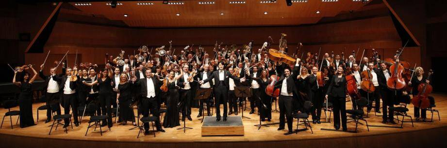 L'orchestre philharmonique de Monte-Carlo.
