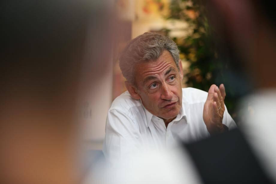 Nicolas Sarkozy à Ajaccio le 24 juillet.