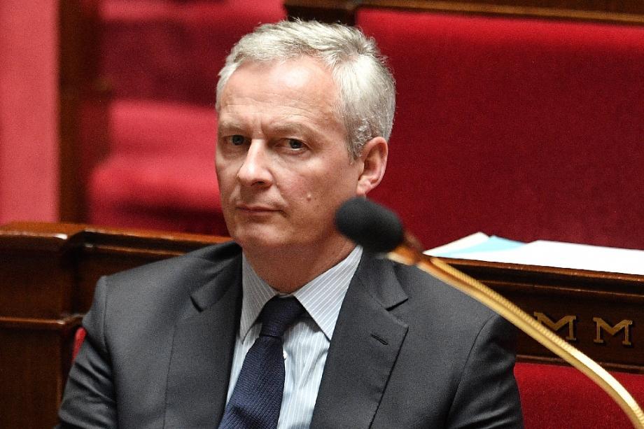 Le ministre de l'Economie Bruno Le Maire, à l'Assemblée nationale le 28 avril 2020 à Paris