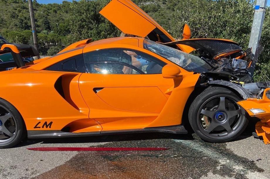 La McLaren Senna LM a été totalement détruite.