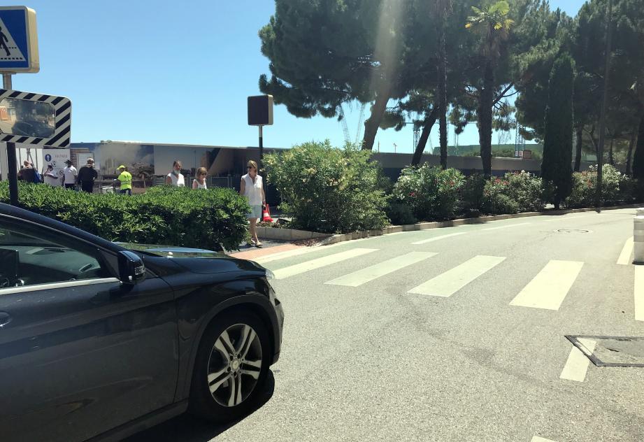 La conductrice n'a pas vu surgir le piéton sur l'avenue Princesse-Grace.