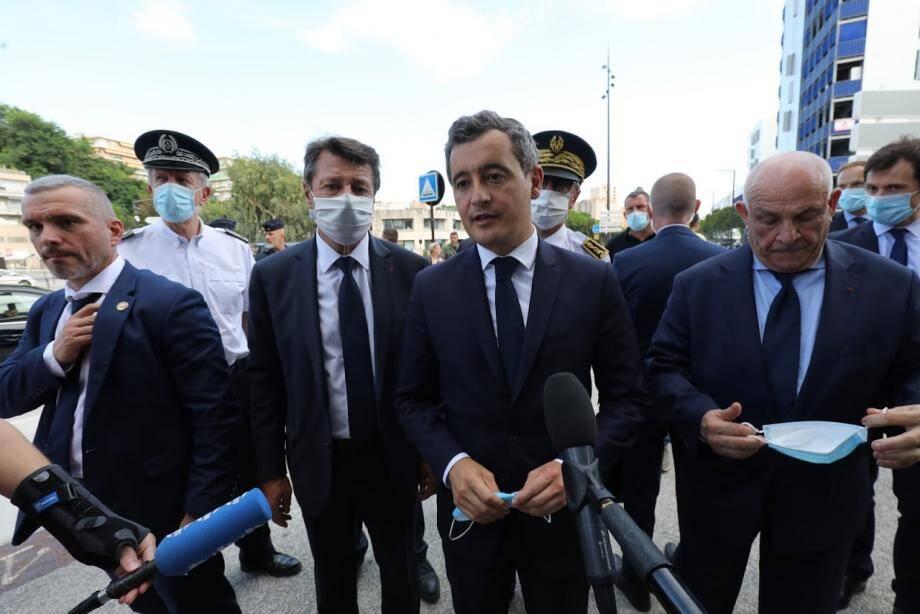 """Trois semaines après son arrivée place Beauvau, le """"premier flic de France"""" était déjà de retour à Nice, pour la deuxième fois, ce jeudi après-midi."""