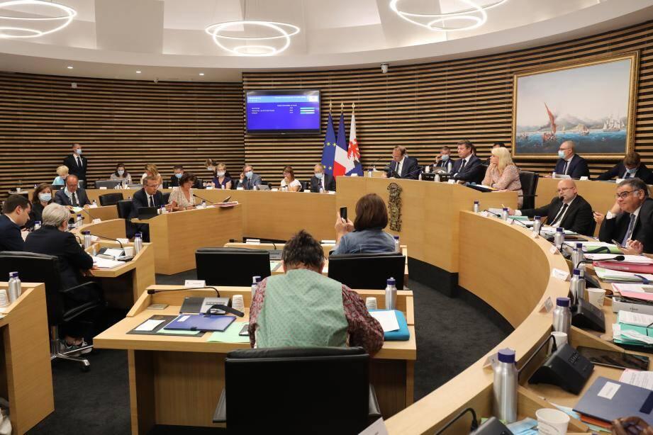 Le conseil municipal de la ville de Nice, vendredi 31 juillet 2020.