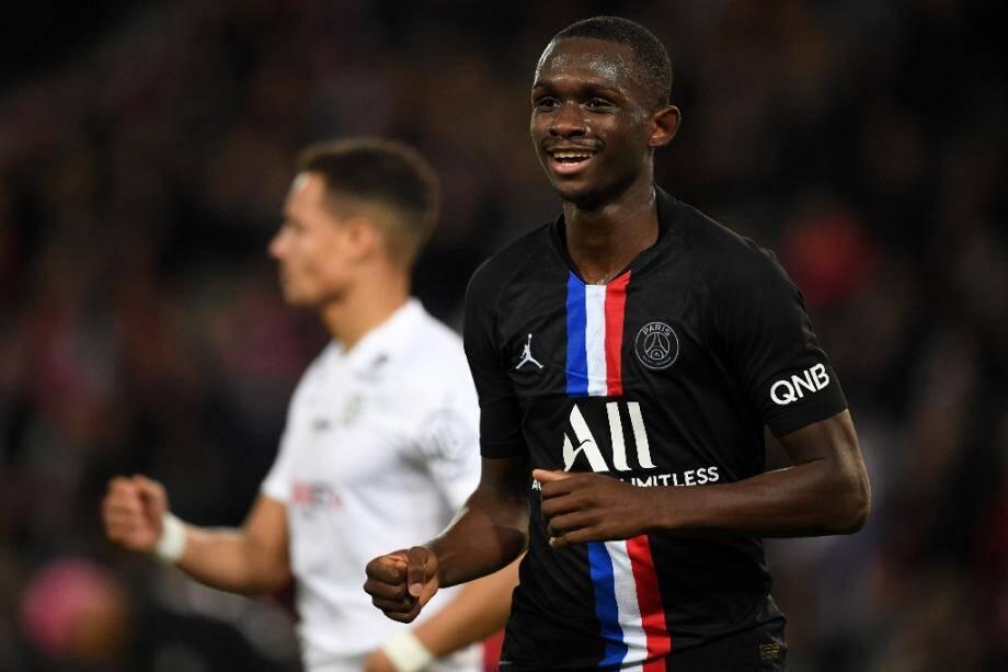 Le défenseur français Tanguy Kouassi le 1er février 2020 au Parc des Princes face à Montpellier