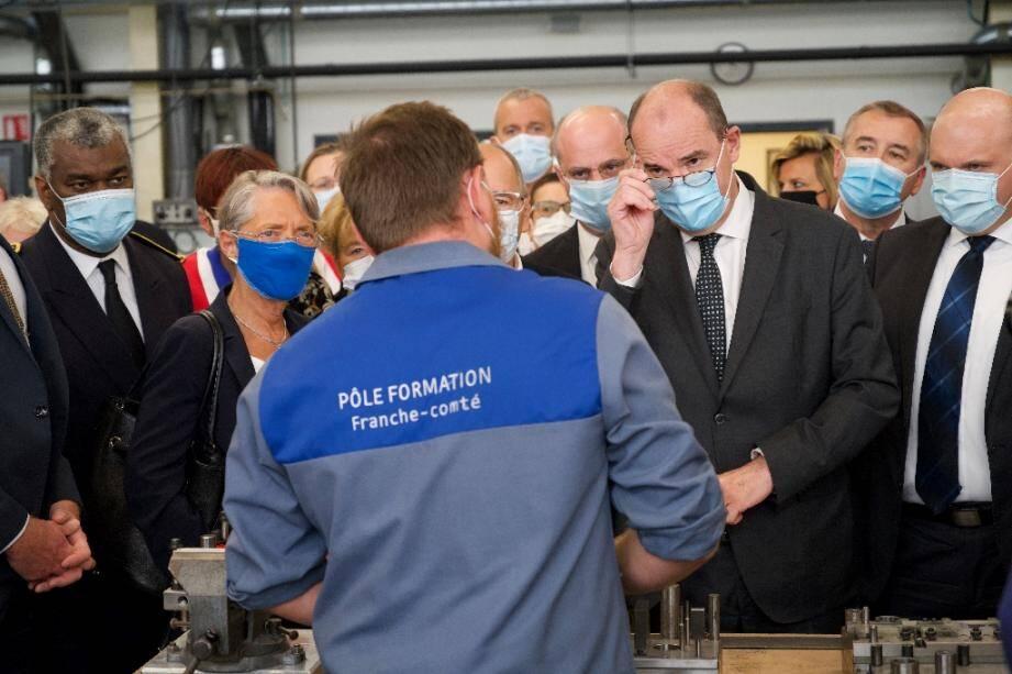 Le Premier ministre Jean Castex le 23 juillet 2020 à Besançon.
