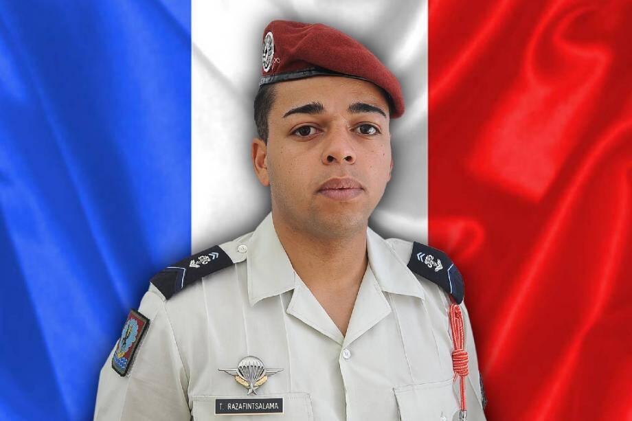 """Photo transmise par l'Armée française le 23 juillet 2020, du soldat Tojohasina Razafintsalama, 25 ans, qui a trouvé la mort lorsque """"son engin blindé a sauté au contact d'un véhicule-suicide chargé d?explosifs"""""""