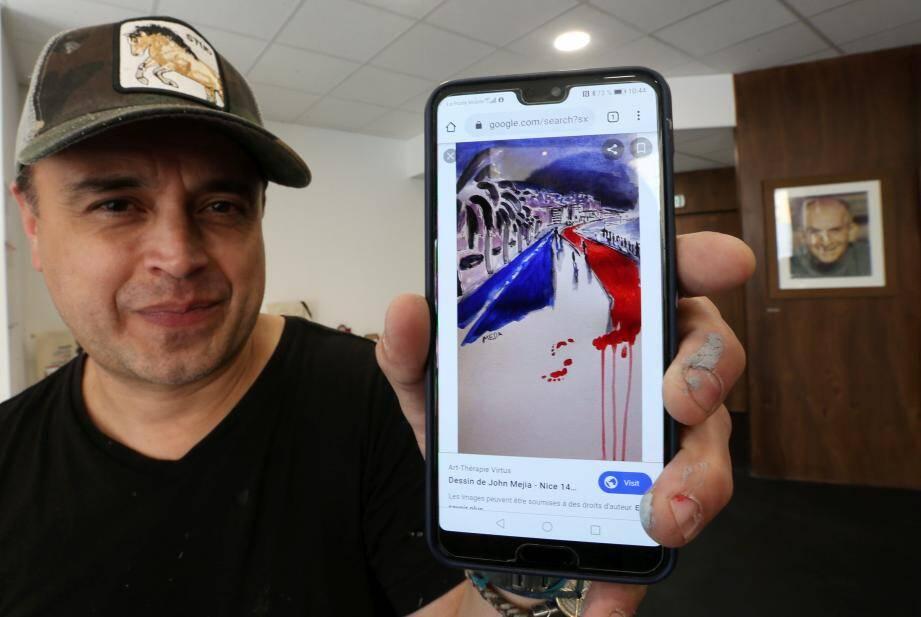 Pendant plus d'un an, John Mejia a tout fait pour offrir son œuvre emblématique « aux Niçois ». Faute de réponse, il l'a finalement cédée fin 2017 à un médecin varois.