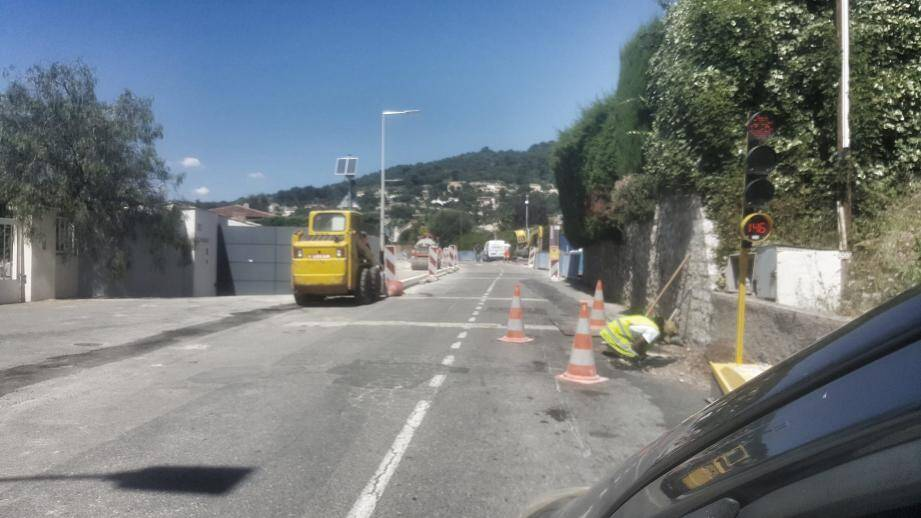 Encore un mois de travaux sur l'avenue de Rimiez.