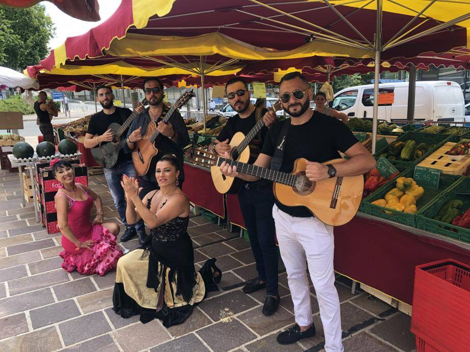 Le groupe flamenco Soy participe à la fête Picasso en ce moment à Vallauris.