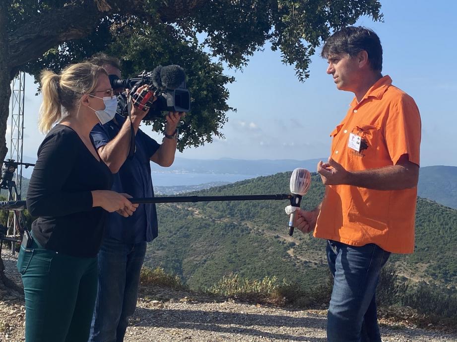 Jean-Louis Bee, président délégué du CCFF maximois, a été interviewé hier par la journaliste de TF1 Malthide Guénégan.