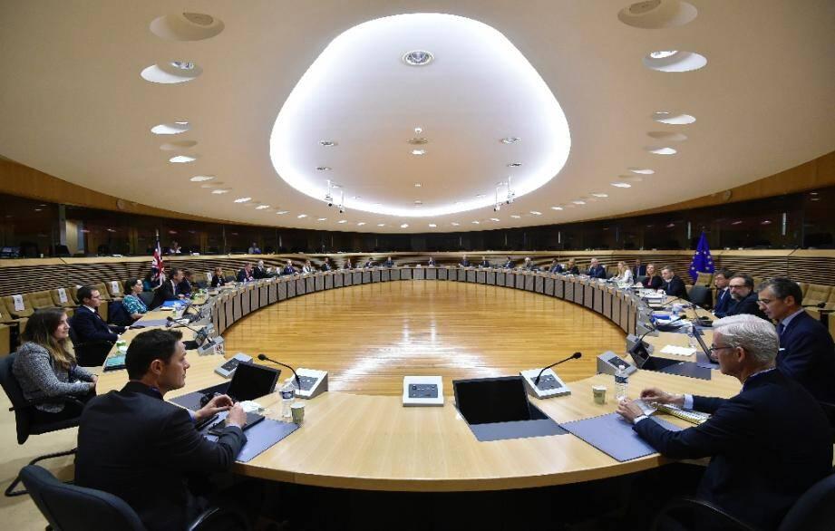 Négociations sur le Brexit au siège de l'Union européenne à Bruxelles, le 29 juin 2020