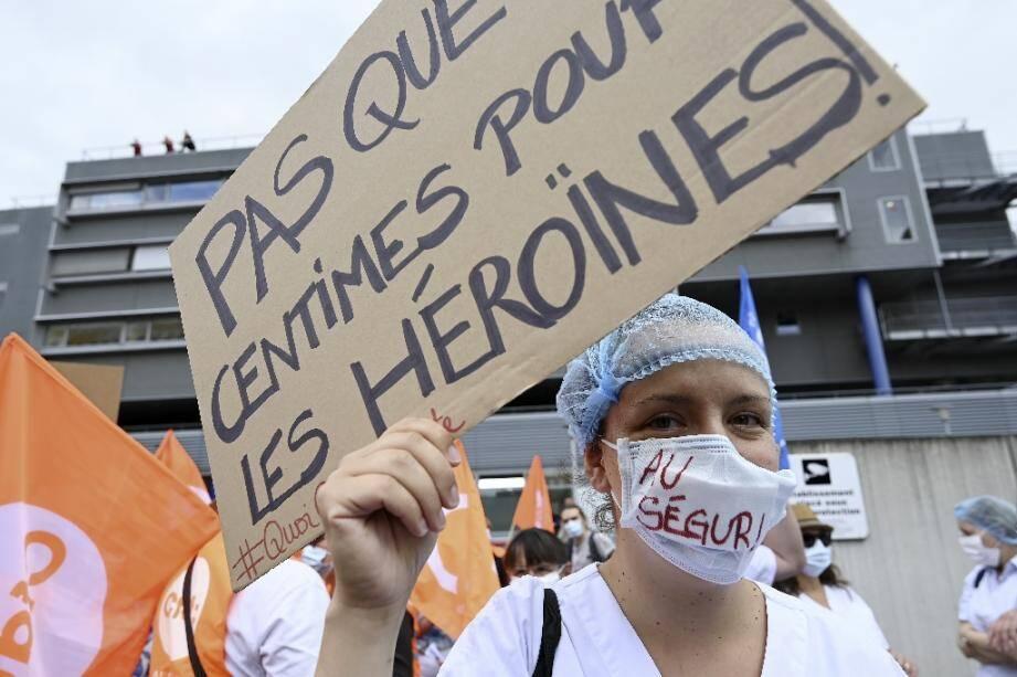 Manifestation du personnel hospitalier le 30 juin 2020 à Strasbourg