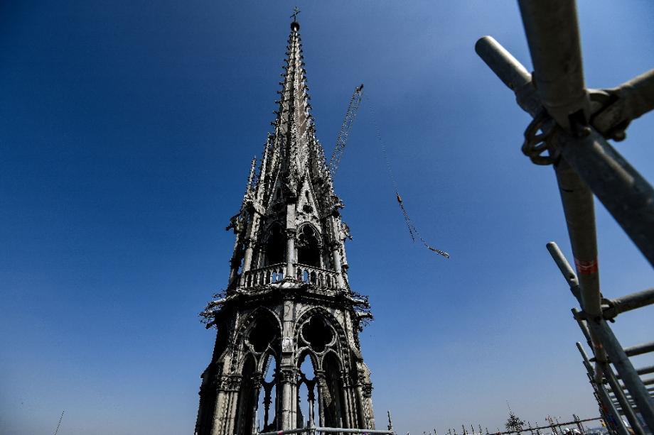La flèche de Notre-Dame photographiée en avril 2019.