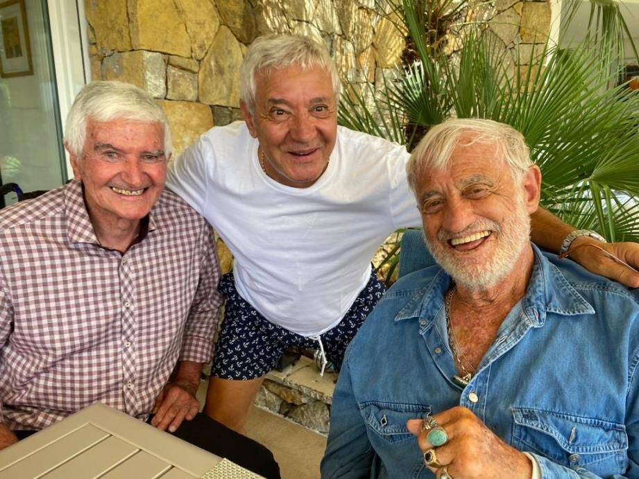 Jean-Paul Belmondo avec Georges Carnus et Mamo.