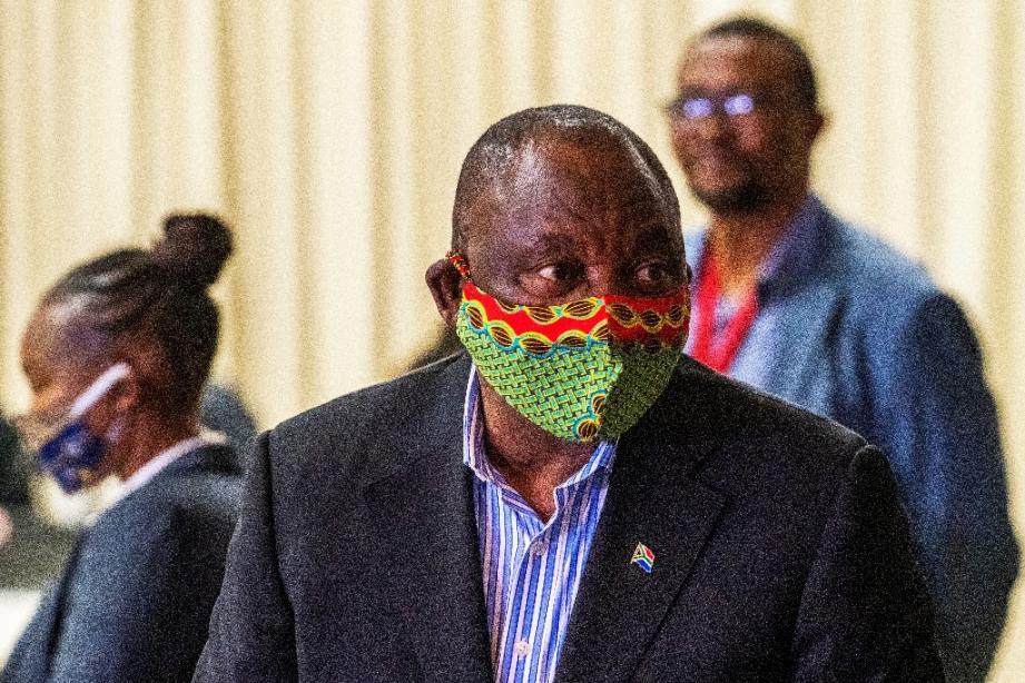 Le président sud-africain Cyril Ramaphosa à Johannesburg le 24 juin 2020