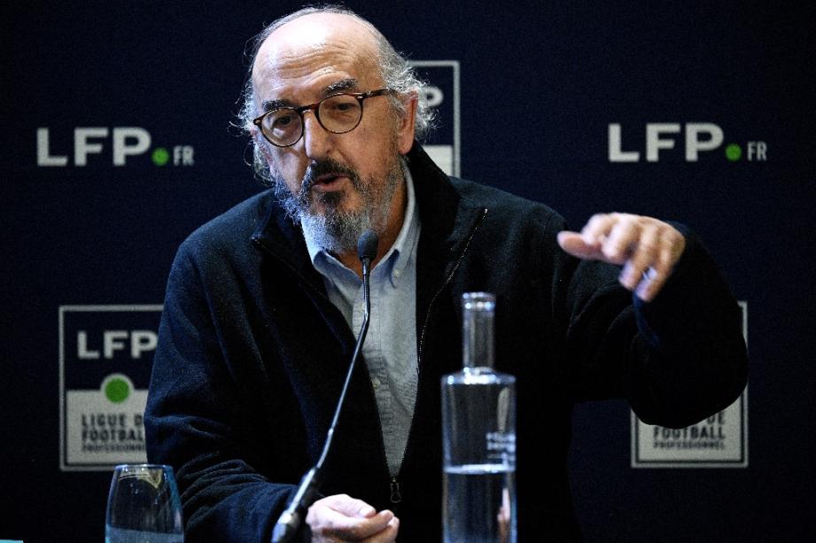 Le patron de Mediapro, Jaume Roures, lors d'une conférence de presse à Paris, le 12 décembre 2019