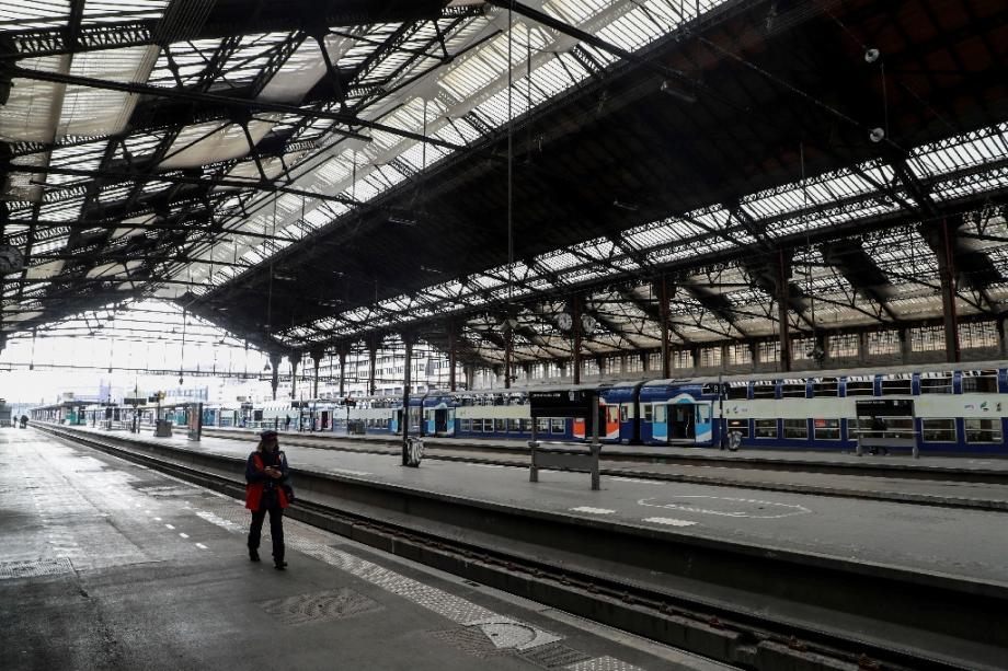 Quai de la Gare de Lyon, à Paris, le 3 avril 2020, durant le confinement lié au Covid-19.