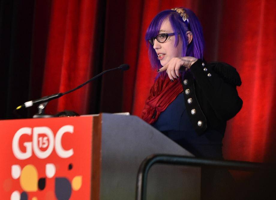 La créatrice américaine Zoe Quinn, lors de la Conférence des créateurs de jeux vidéo à San Francisco le 4 mars 2015