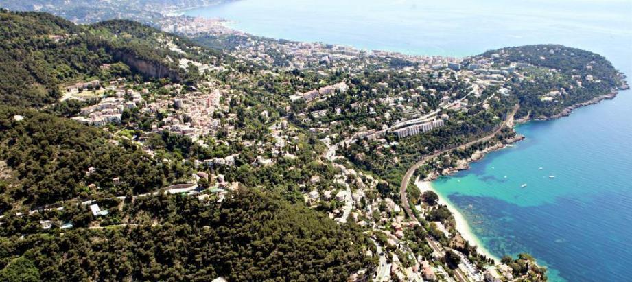 Vue sur Roquebrune-Cap-Martin