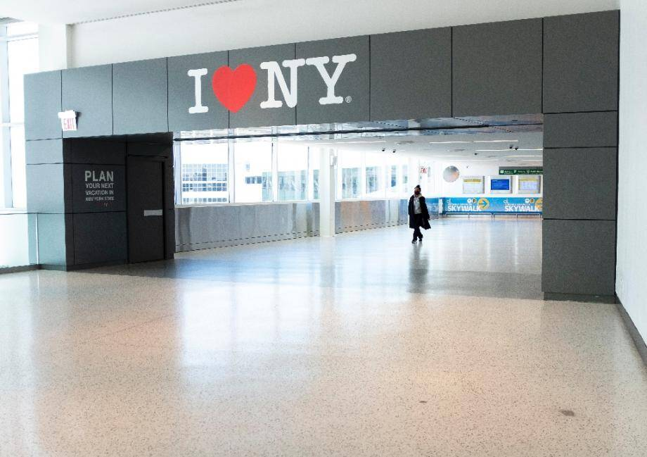 A l'aéroport John Kennedy de New York, le 13 mai 2020
