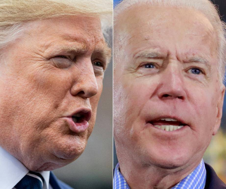 Le président américain Donald Trump et l'ancien vice-président Joe Biden