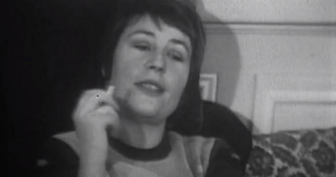 Annie Girardot lors de l'interview réalisée en 1972, dévoilée ce samedi par l'Institut national de l'audiovisuel.