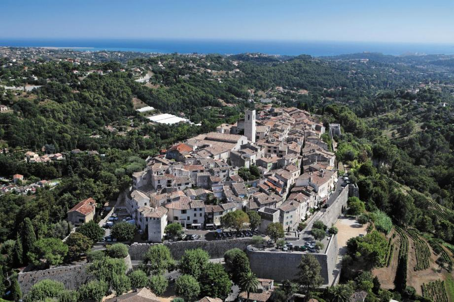 Vue aérienne de Saint-Paul-de-Vence.
