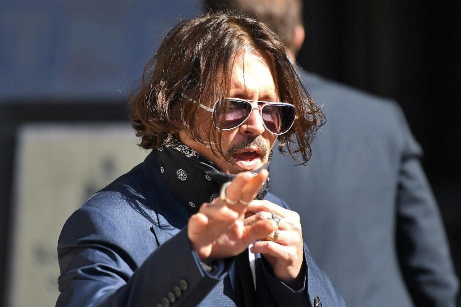 L'acteur américain Johnny Depp, à son arrivée à la Haute Cour de Londres, le 7 juillet 2020