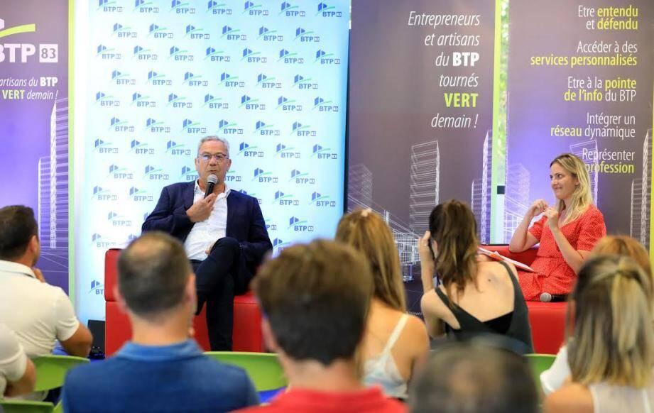 Jean-Jacques Castillon a fait part des préoccupations du secteur du BTP à Cécile Muschotti, députée du Var.
