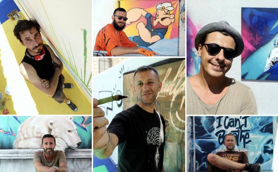 Les artistes ont trois jours pour peindre sur un thème imposé: Free Mediterranean.