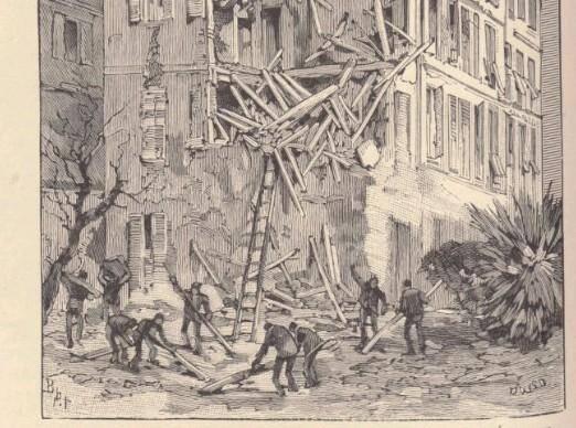 Le quartier Saint-Etienne à Nice parmi les plus touchés par le tremblement de terre du 23 février 1887.