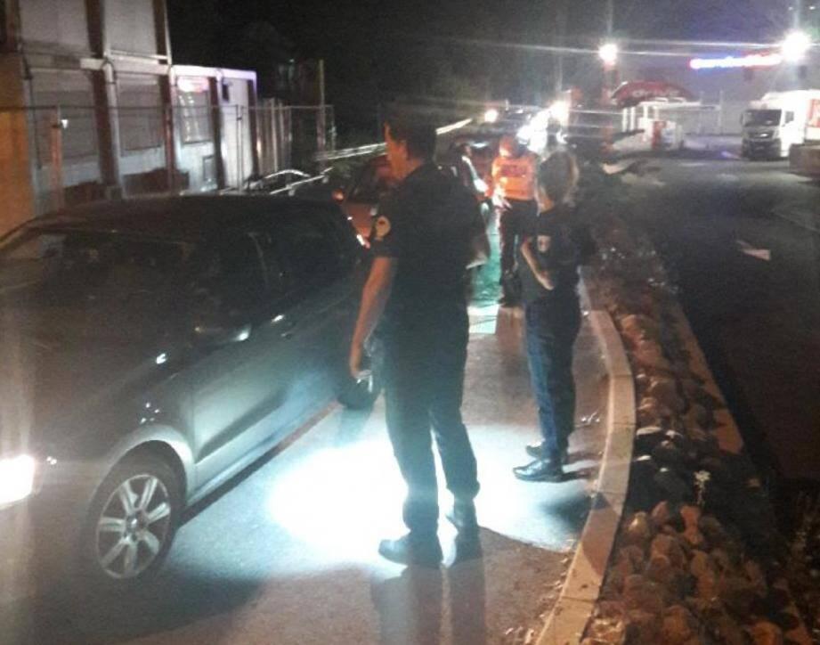 La police a contrôlé un centaine de véhicules.