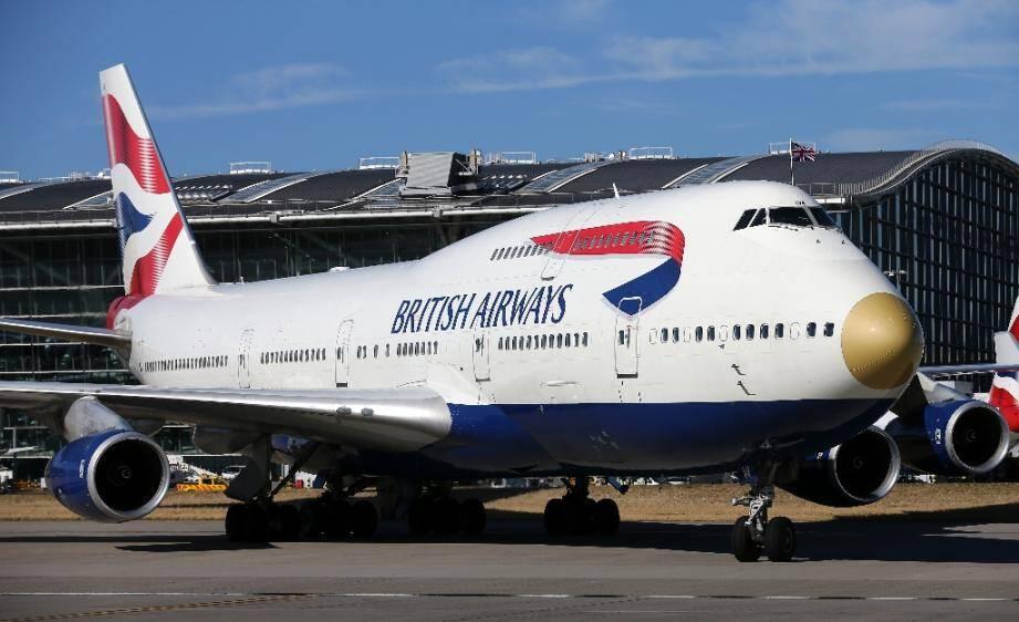 Un Boeing 747 à l'aéroport de Heathrow à Londres le 23 août 2016
