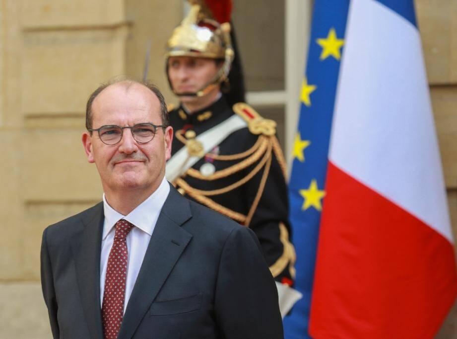 Le nouveau Premier ministre Jean Castex lors de la passation de pouvoir à l'hotel Matignon, le 3 juillet 2020